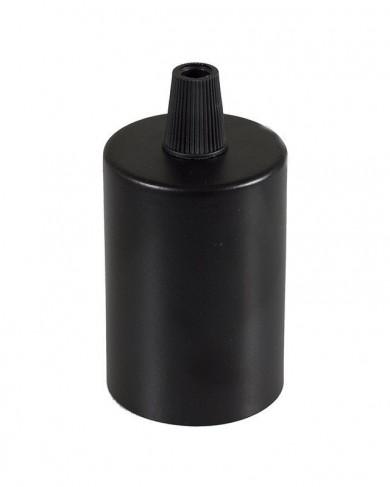 Douille métal cylindrique Noir