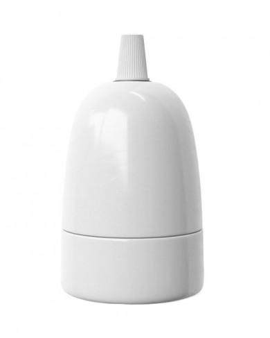 Douille en porcelaine Blanc