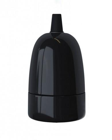 Douille en porcelaine Noir