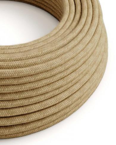 Câble électrique tissu Chanvre - effet mat