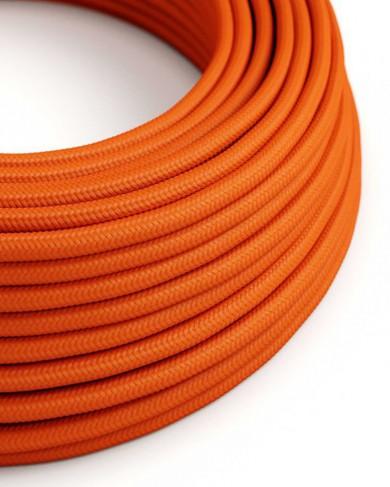 Câble électrique tissu Mandarine - effet mat