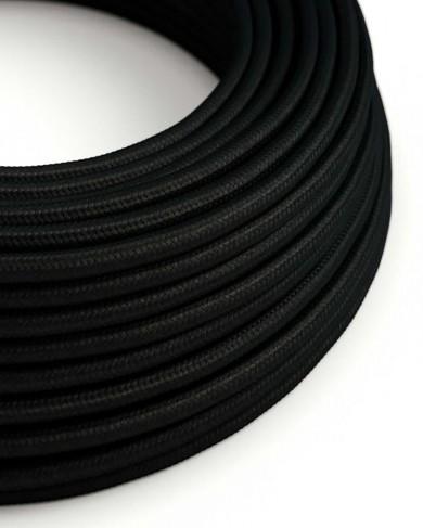 Câble électrique tissu Noir effet soie