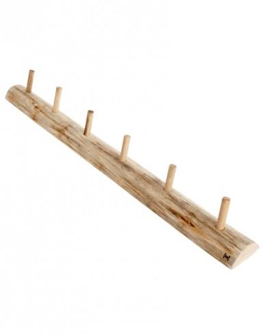 Patère en bois brut Alon