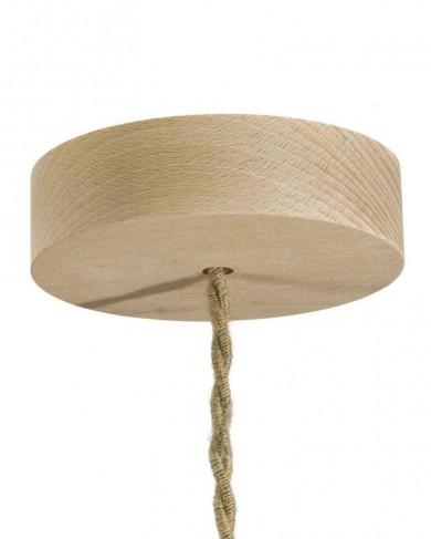 Rosace cylindrique en bois