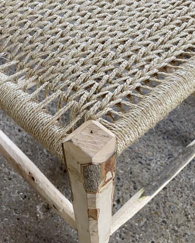 Tabouret en bois d'Olivier & Corde Big Stool Naturel