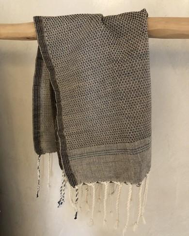 Fouta & Serviette en Coton Naim Brun