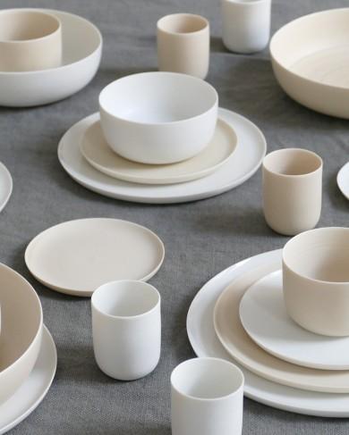 Mini assiette/soucoupe Kaya en porcelaine fine - fait main