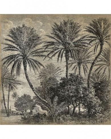 Panneau Palmiers en papier froissé