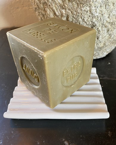 Porte-savon rectangle Minimal en céramique émaillée