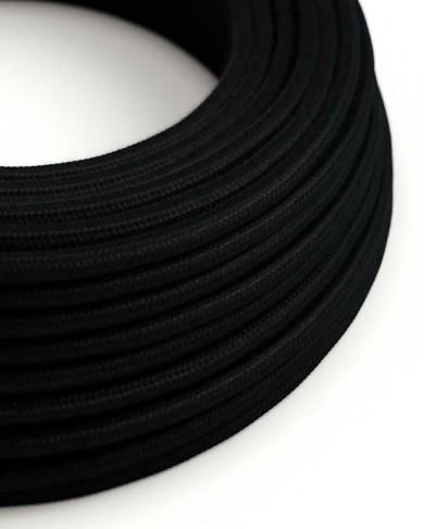 Câble électrique extérieur gaine de tissu Noir - effet soie