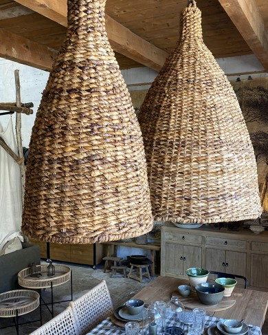 Suspension en fibre naturelle Hutte