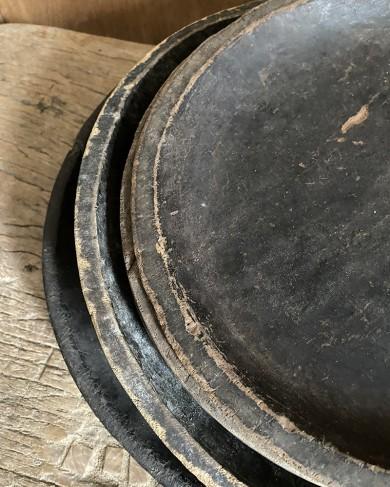 Assiette de Sumatra en bois - pièce unique