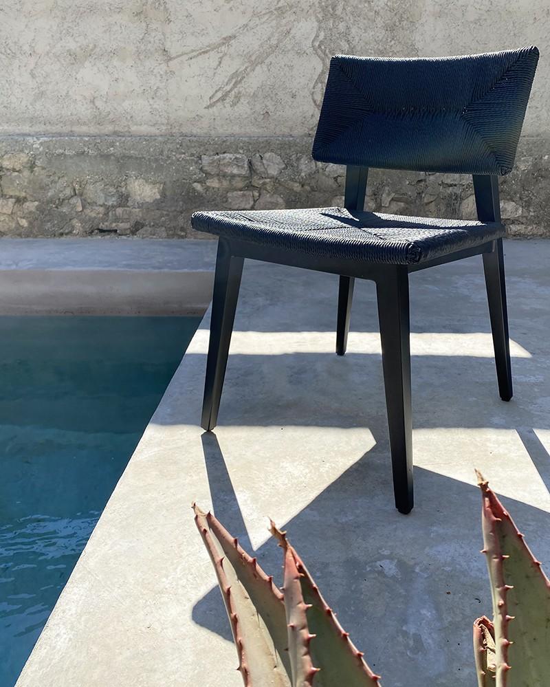 Chaise extérieure Marie en aluminium