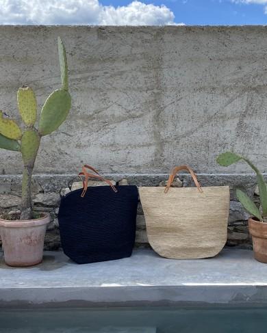 Grand sac cabas en raphia - fait main