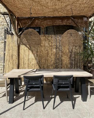 Table extérieure Antica en teck & aluminium