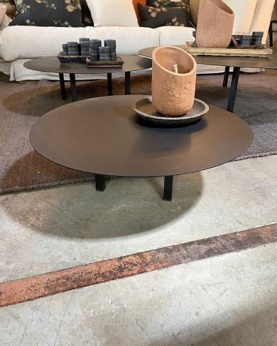 Table basse Métal ronde noir - petit modèle