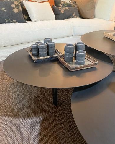 Table basse Métal ronde noir - moyen modèle