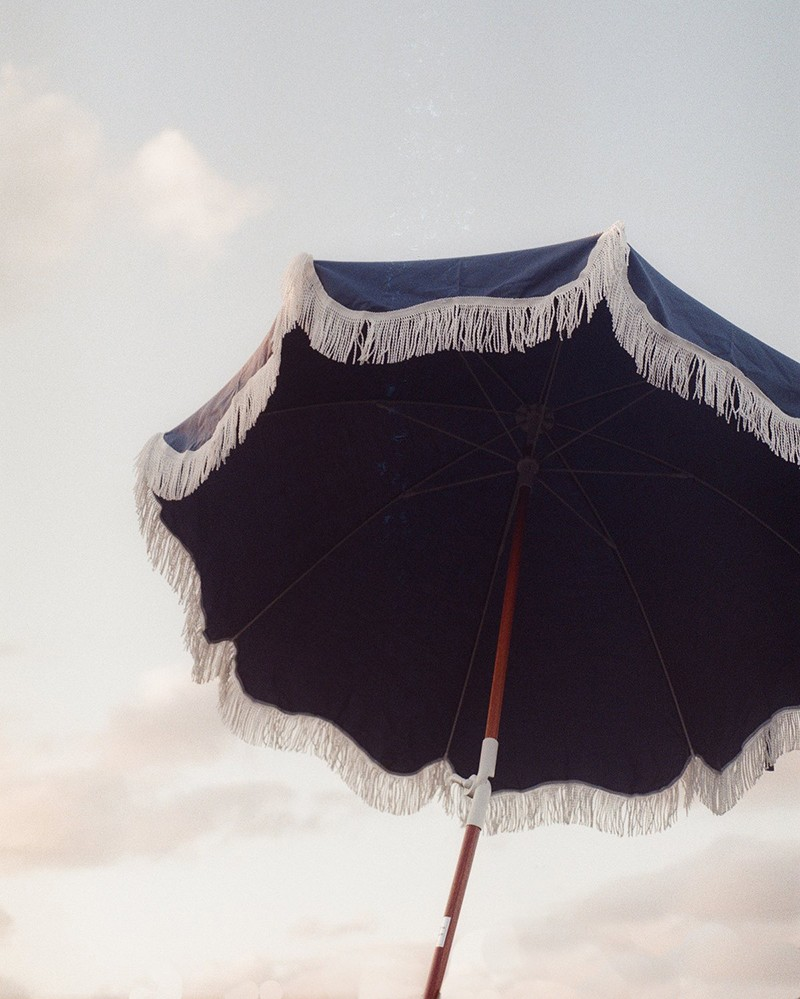 Parasol Beach en toile & nylon
